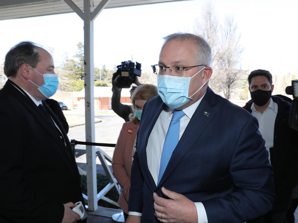 Scott Morrison has been pushing back against state-mandated border closures and restrictions. Picture: Rohan Kelly