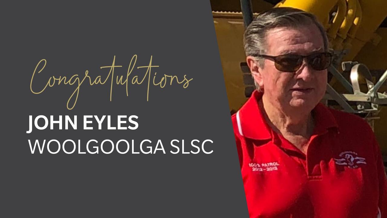 Surf Life Saving NSW Administrator of the Year for 2020, Woolgoolga SLSC's John Eyles.