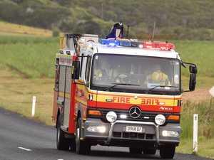 Five fire crews respond to hinterland shed blaze