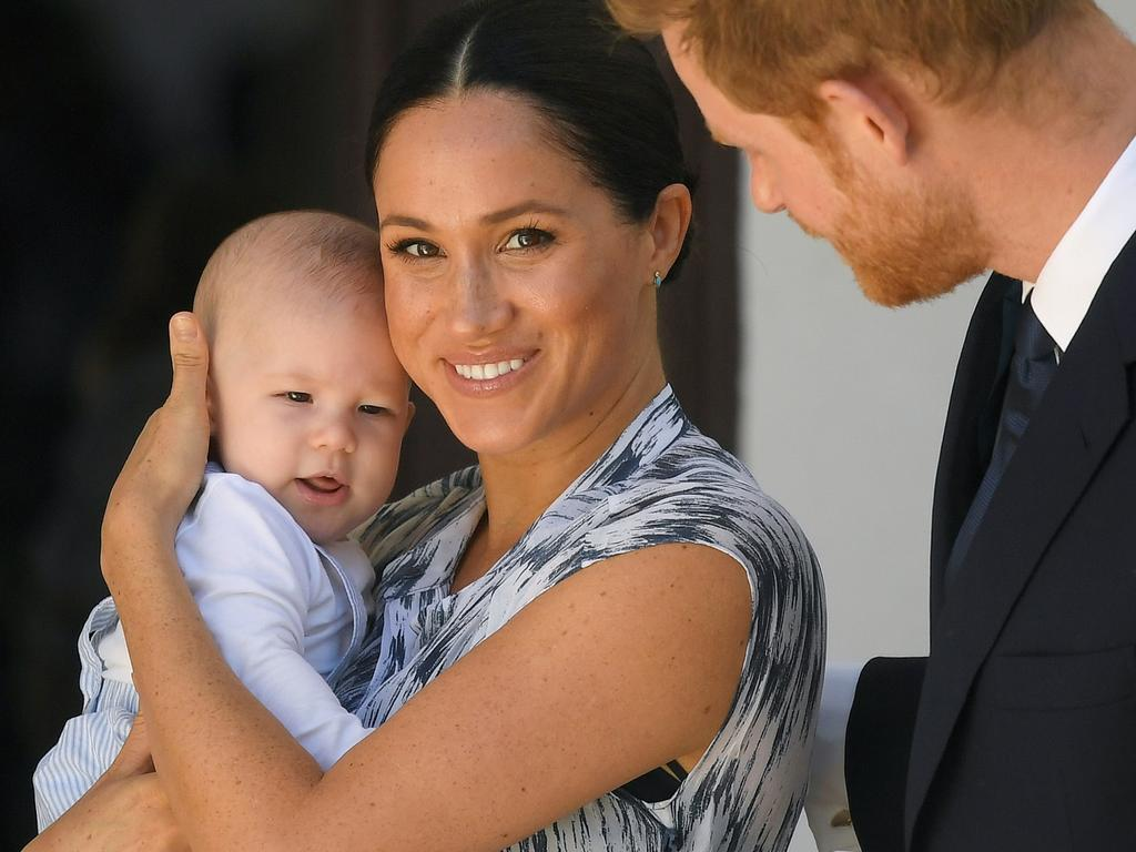 Prince Harry used a pet name for Archie while on a Zoom call with staff and volunteers from Britain's Rugby Football League. Picture: Getty Images