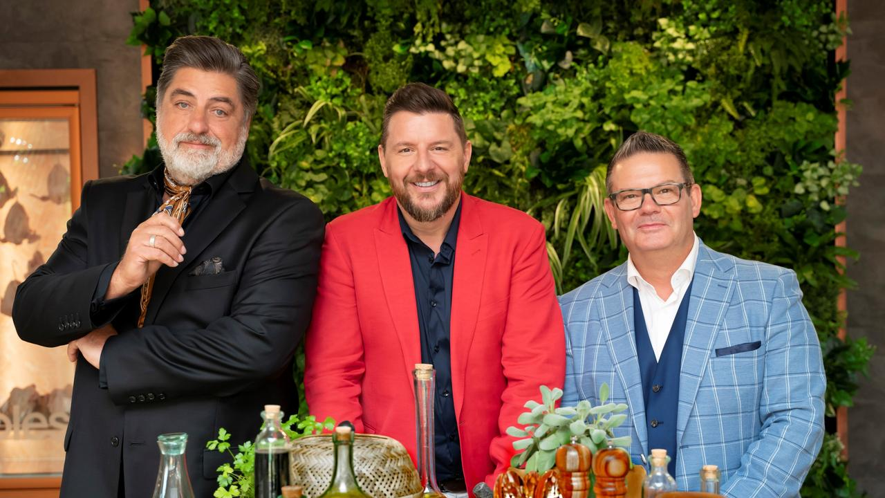Matt Preston, Manu Feildel and Gary Mehigan team up for Seven's new cooking series, Plate Of Origin. Picture: Supplied/Seven