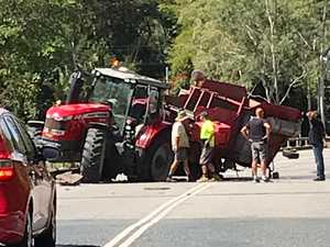UPDATE: TMR says road cleared after tractor crash