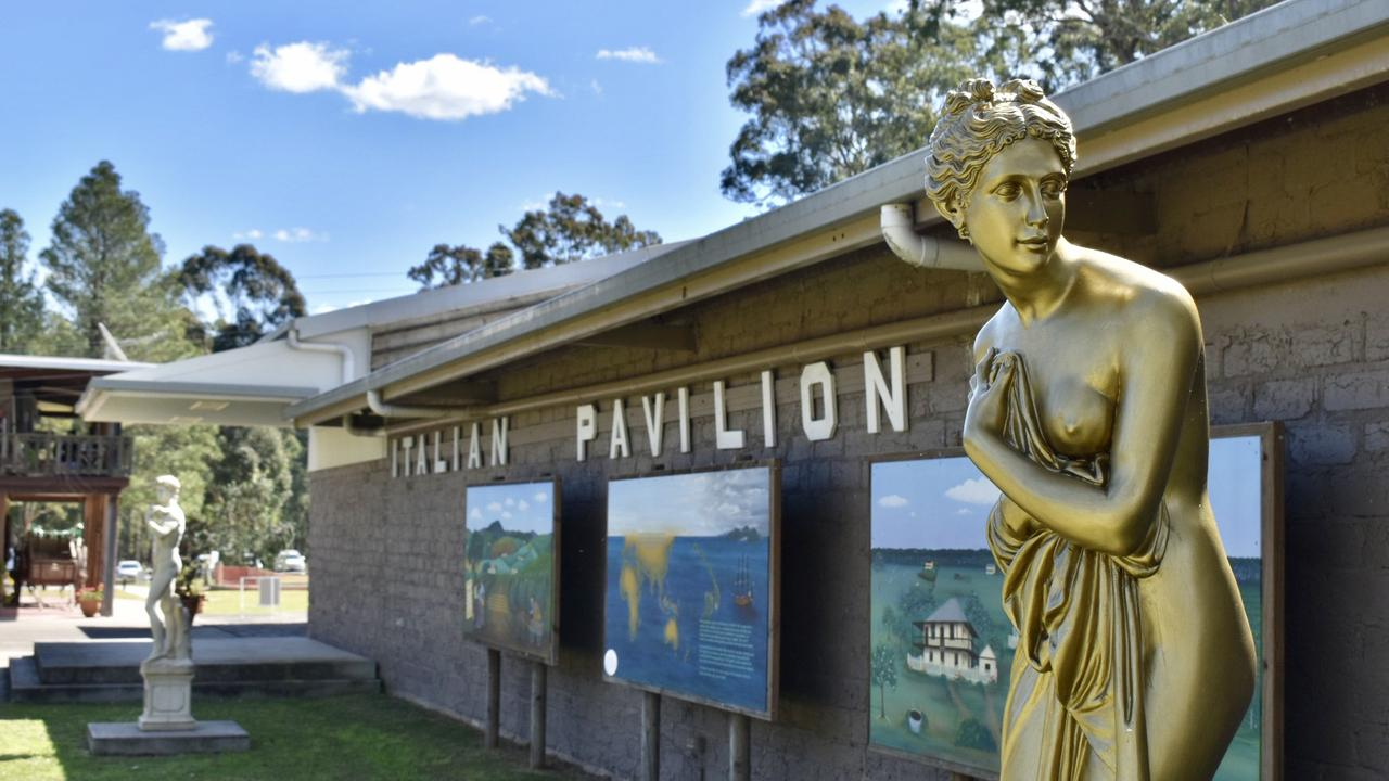 The Italian Pavilion in New Italy gives visitors an idea of Italy's history and traditions.