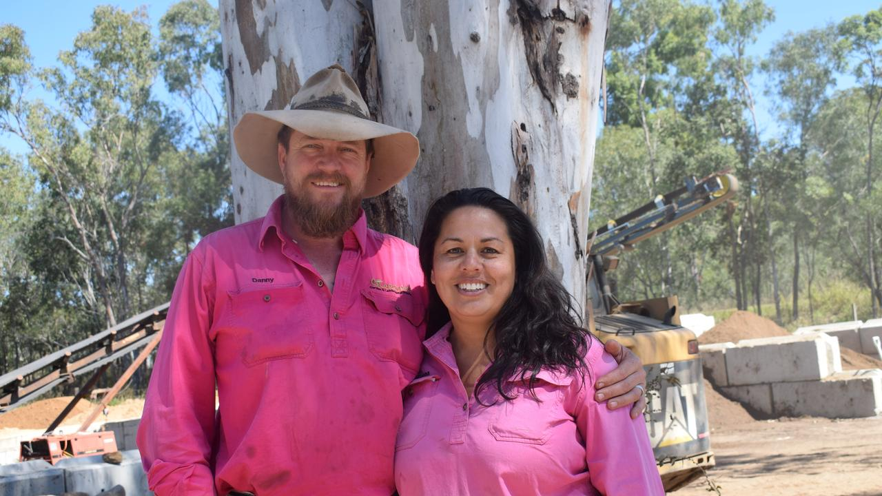 Gladstone Garden & Landscaping Supplies owners Danny and Marcena Cashman, with help from Turfworks Group Michael Newton helped a Calliope woman after she was ripped off by previous contractors.