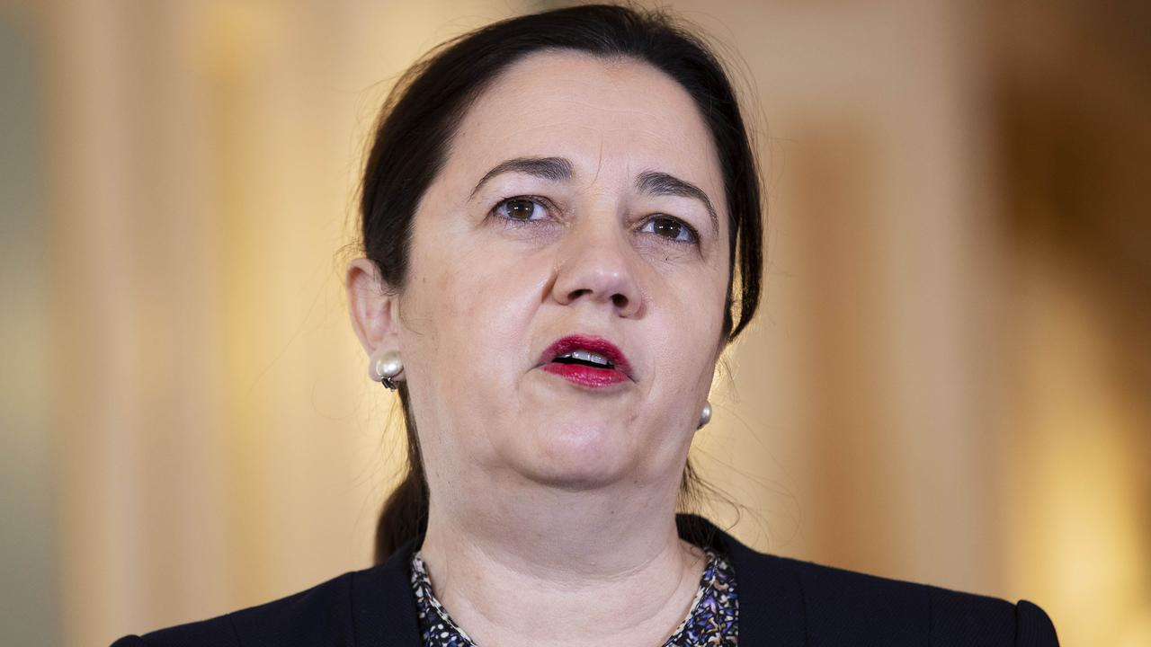 Queensland Premier Annastacia Palaszczuk admits that her state needs to improve on medical cases along the NSW border. Picture: Attila Csaszar