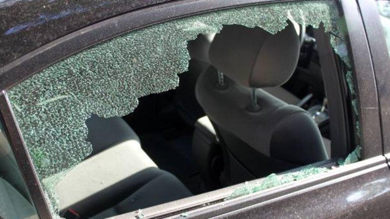 Brazen criminals have cut through a security door in a nightmare-ish break and enter.