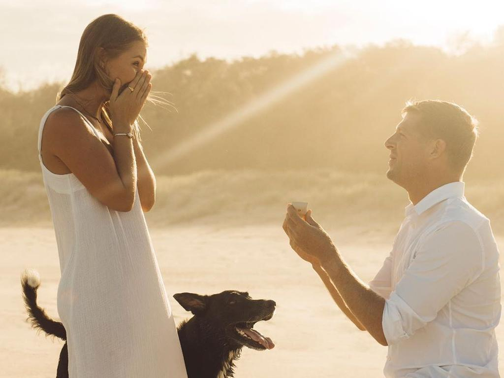 Mick Fanning got engaged to partner Breeana Randall.