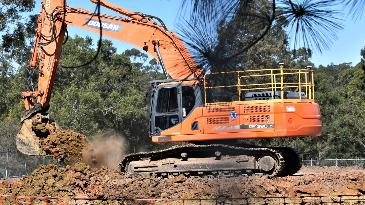 The $2.4 million earthworks project is underway on Signature Care's 144-bed Grafton aged care development.