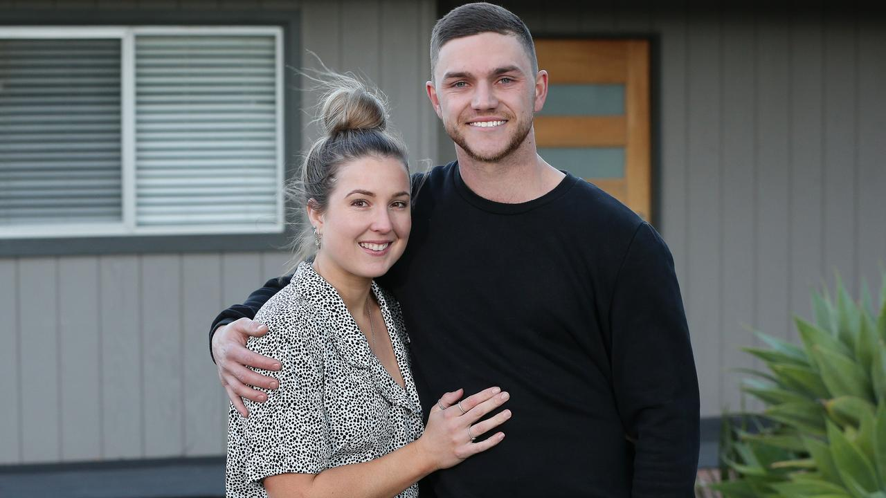 First homebuyers Shay Southern, 25 and Dan Alvarez, 25, have just bought their first home together in Bowen Mountain at the base the Blue Mountains. Picture: David Swift