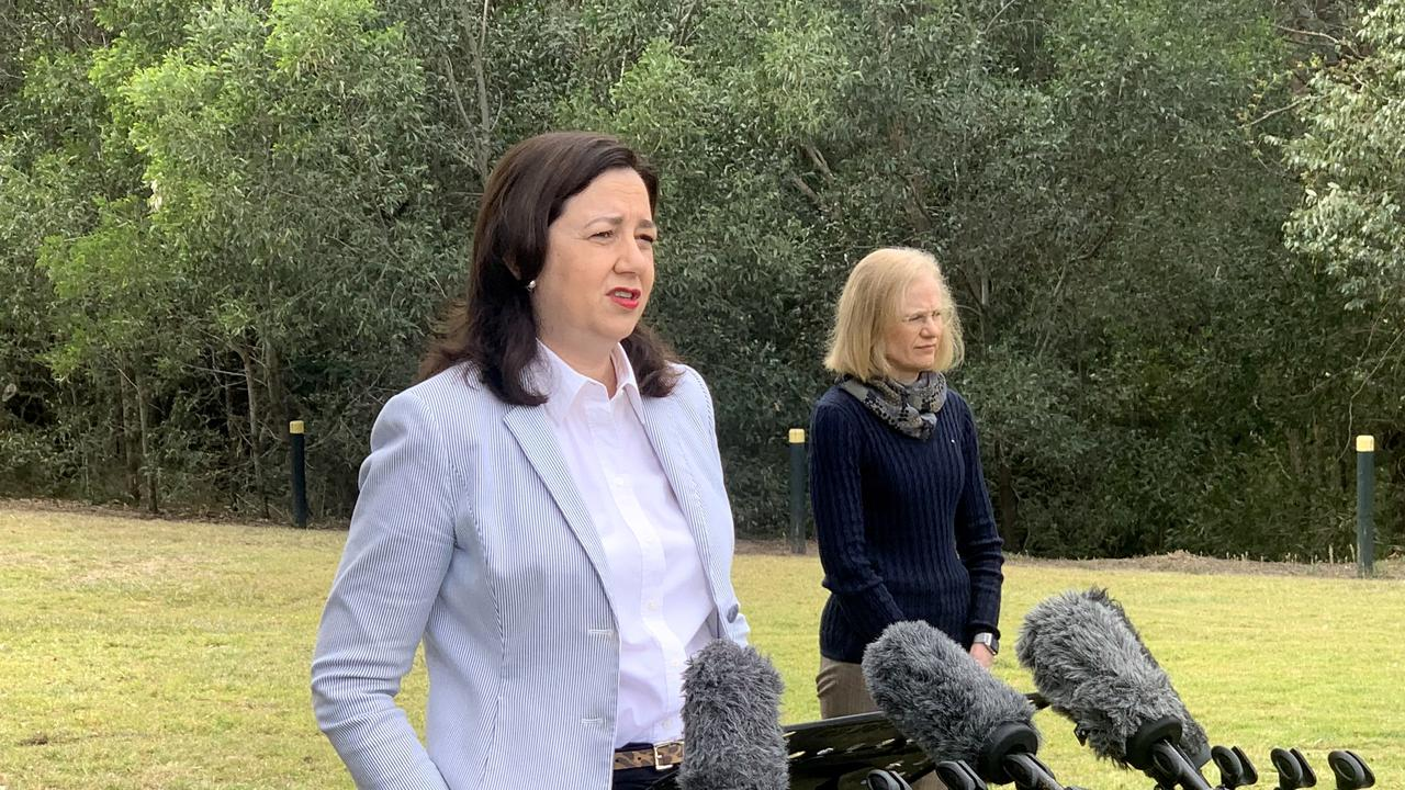 Premier Annastacia Palaszczuk confirms only one new case of coronavirus was recorded overnight.