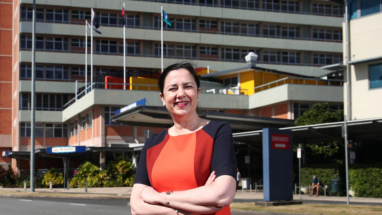 Queensland Premier Annastacia Palaszczuk announced $52.9 million in funding for the Cairns Hospital, which includes $1.5 for a business study into a tertiary training partnership with James Cook University. Picture: Brendan Radke