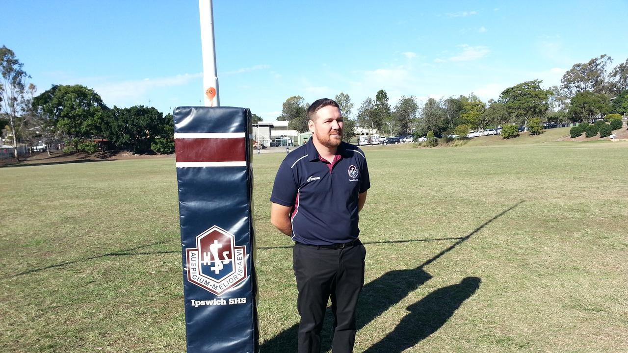 Ipswich State High School rugby league head coach Josh Bretherton. Picture: David Lems