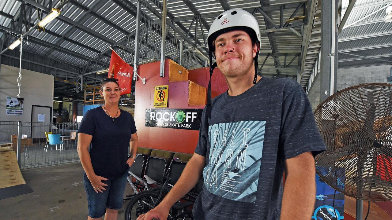 Rock Off owner Jayn Earle with employee Matt Arrowsmith, pictured last year.