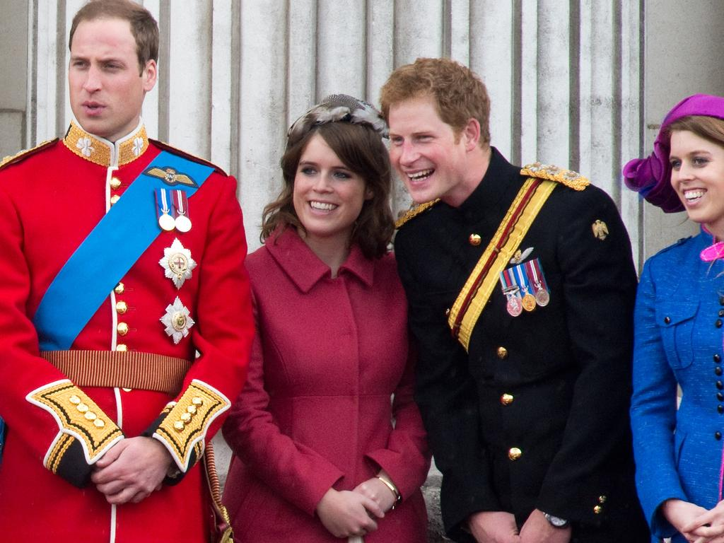 Prince William, Princess Eugenie, Prince Harry, and Princess Beatrice. Picture: Anwar Hussein/WireImage