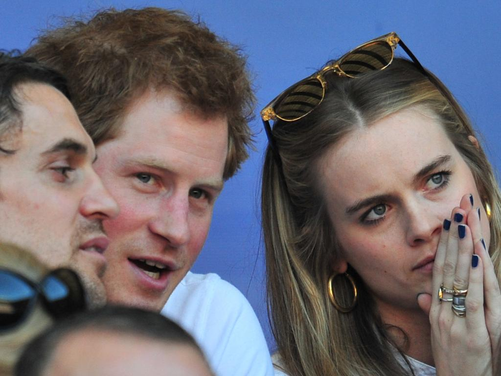 Prince Harry and his former on-off girlfriend, Cressida Bonas, in 2014. Picture: AFP