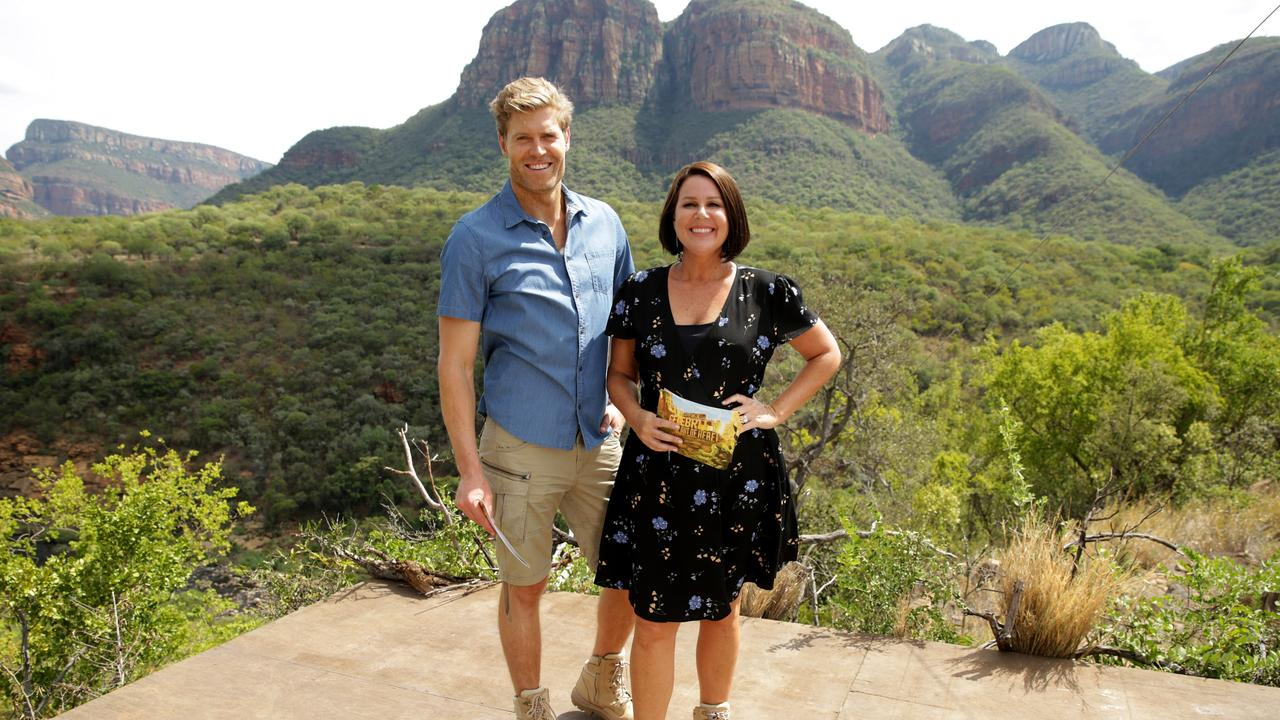 I'm A Celebrity … Get Me Out Of Here co-hosts Dr Chris Brown and Julia Morris. Picture: Channel 10