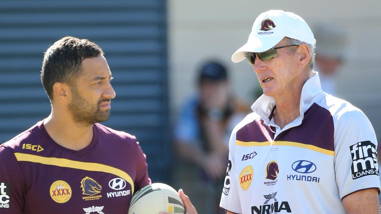 Benji Marshall sought advice from Wayne Bennett about his next move. Picture: Jono Searle