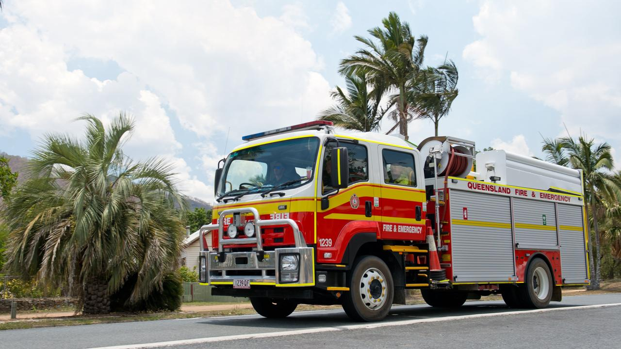 Fire services are currently tending to a blaze west of Rockhampton.