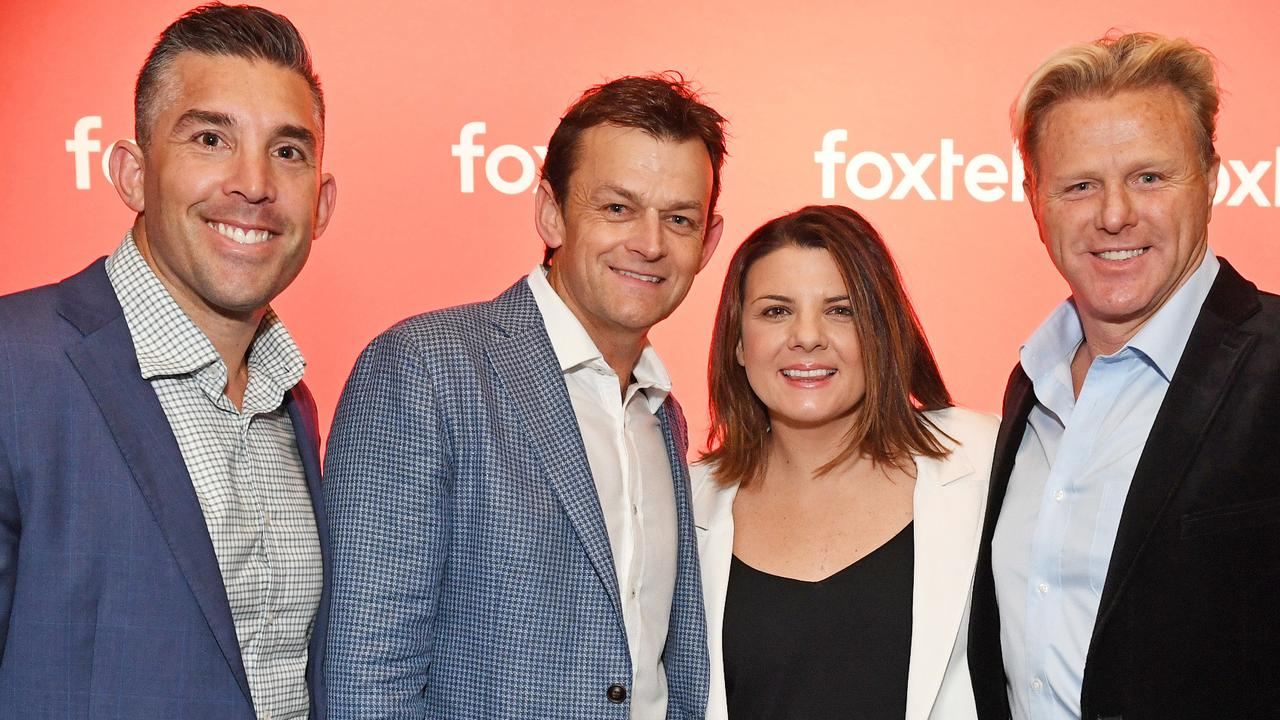 Braith Anasta, Adam Gilchrist, Kelli Underwood and Dermott Brereton at the Foxtel Media Launch last year.