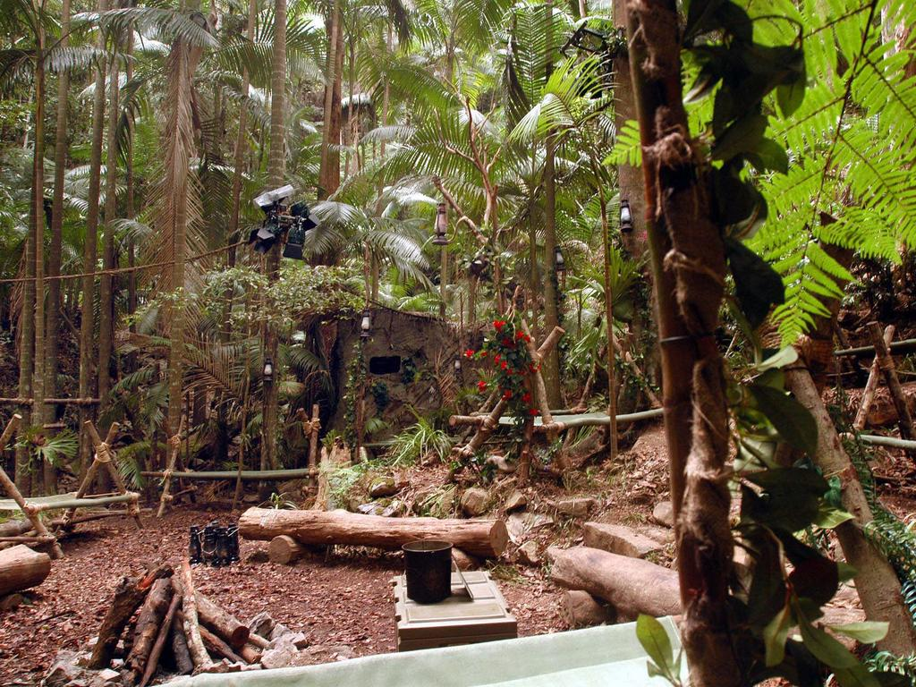 The jungle camp at Dongay Creek near Murwillumbah where the UK version of I'm A Celebrity … Get Me Out Of Here is filmed.