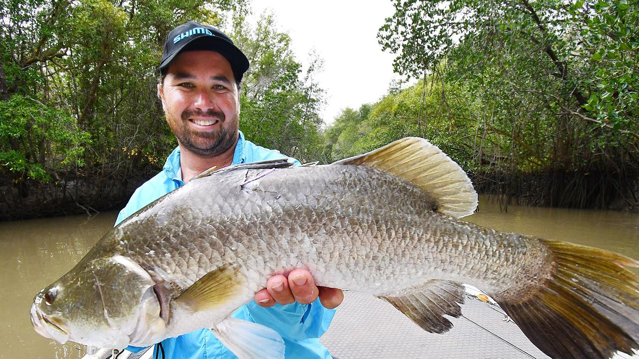Alastair Lau's chunky barra was tagged with a Million Dollar Fish BetEasy purple charity tag and released into the Adelaide River, in 2018.
