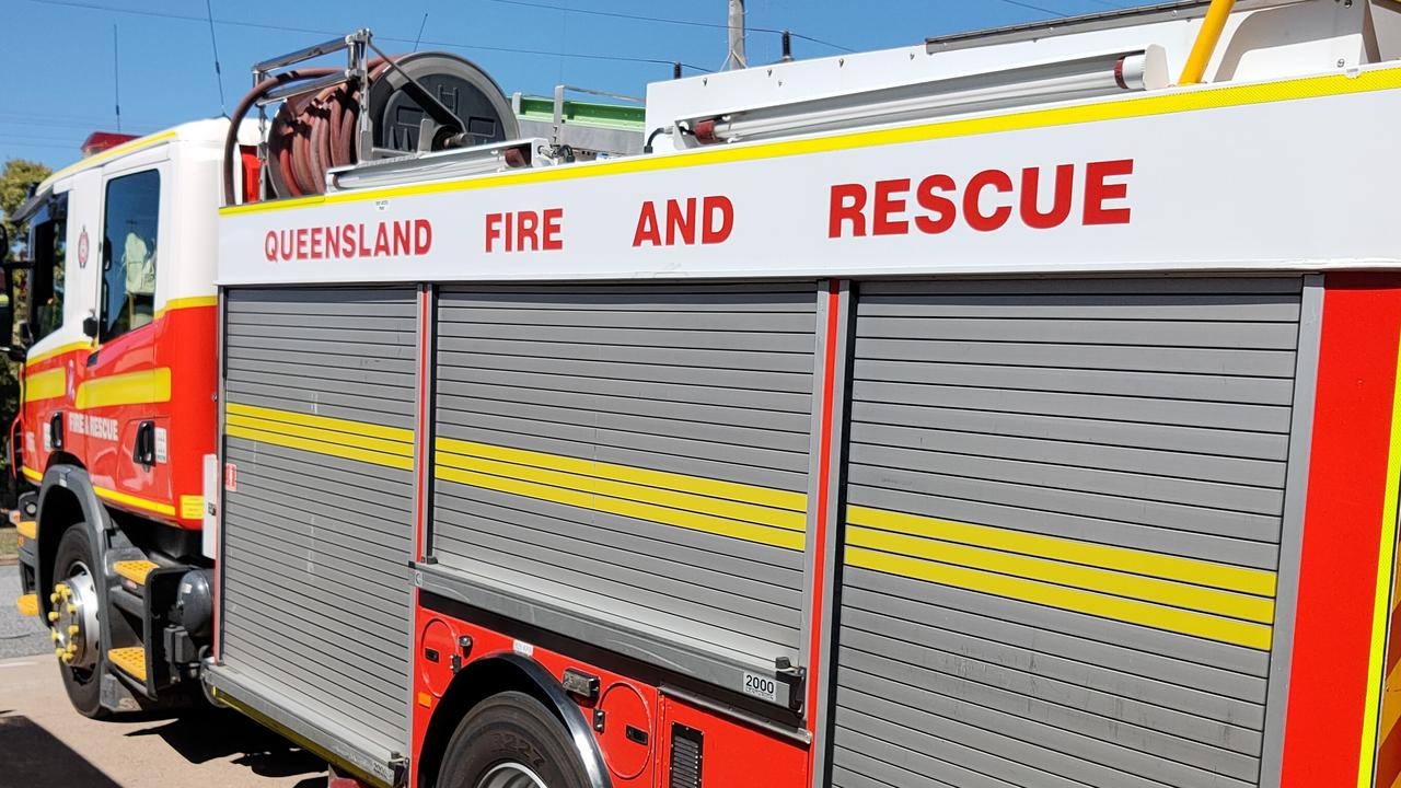 QFES were called to reports of a car fire which sparked a bushland blaze in Cooloolabin.