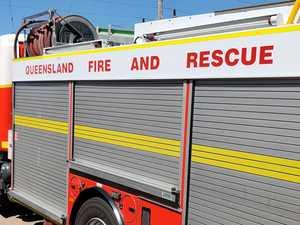 Crews rush to scene as car fire sparks bushland blaze