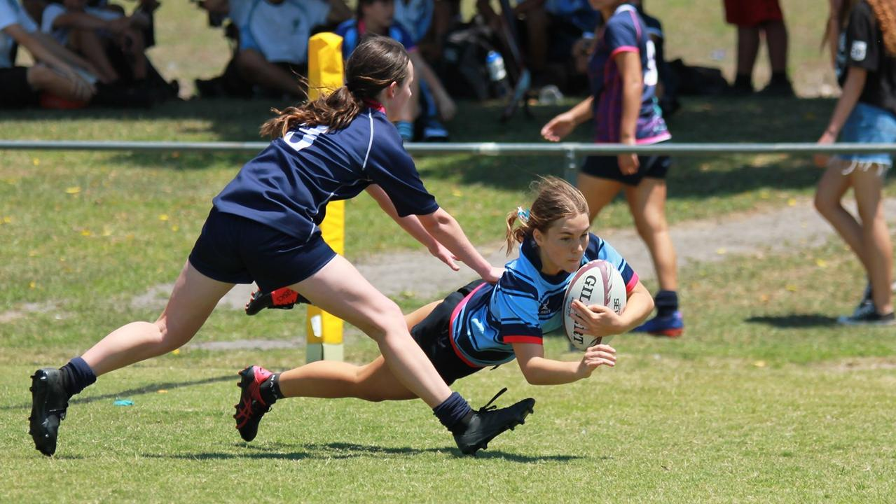 St John's College teenager Gracie Wright is enjoying a strong schoolgirls rugby season. Picture: Supplied.