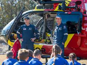 Westpac rescue helicopter lands at Mount Whitestone