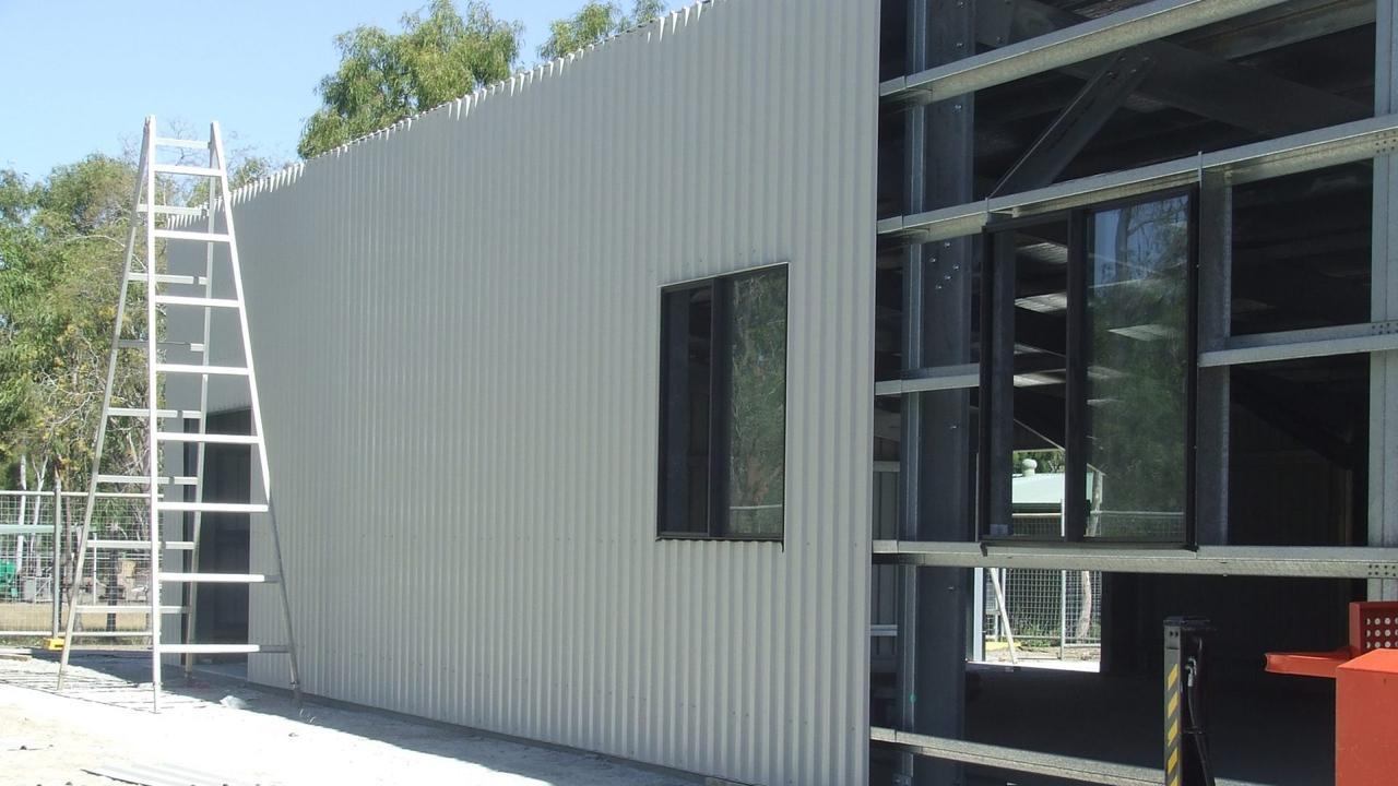 Exterior panels added to Rockhampton Men's Shed.
