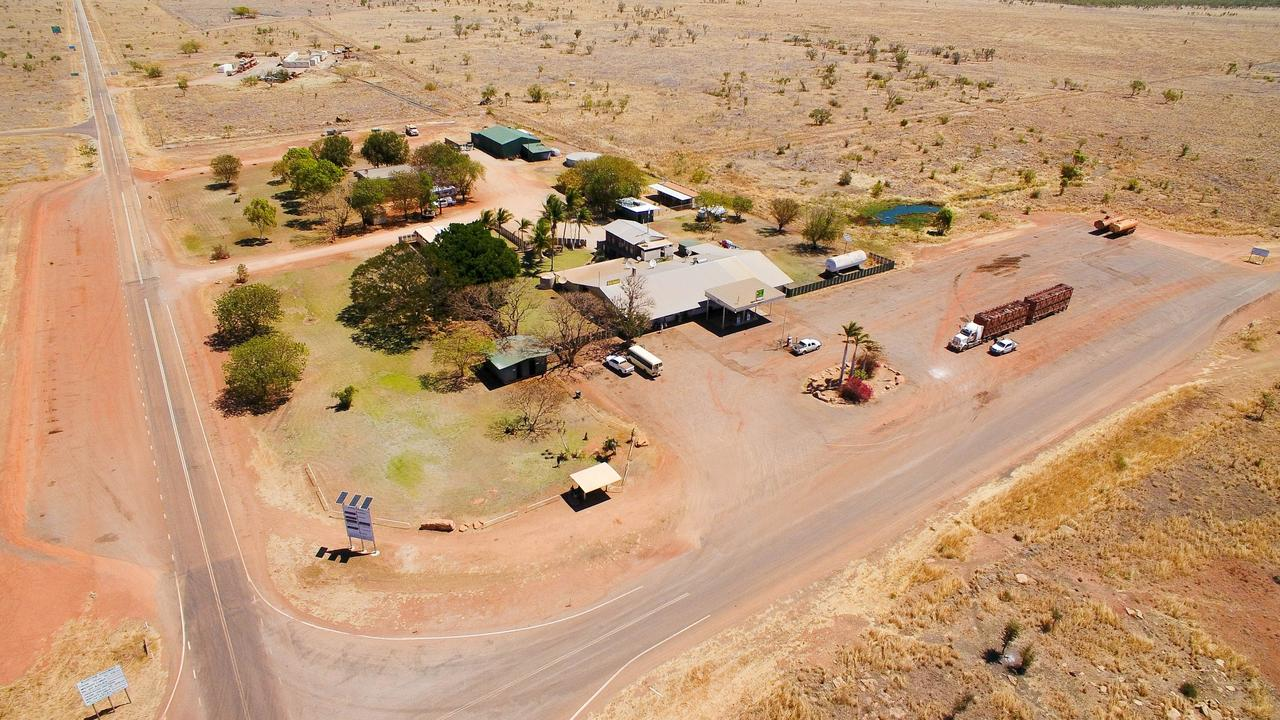 Top Springs Hotel at the crossroads of the Buntine Hwy and Buchanan Hwy is for sale for $3 million. Picture: SUPPLIED