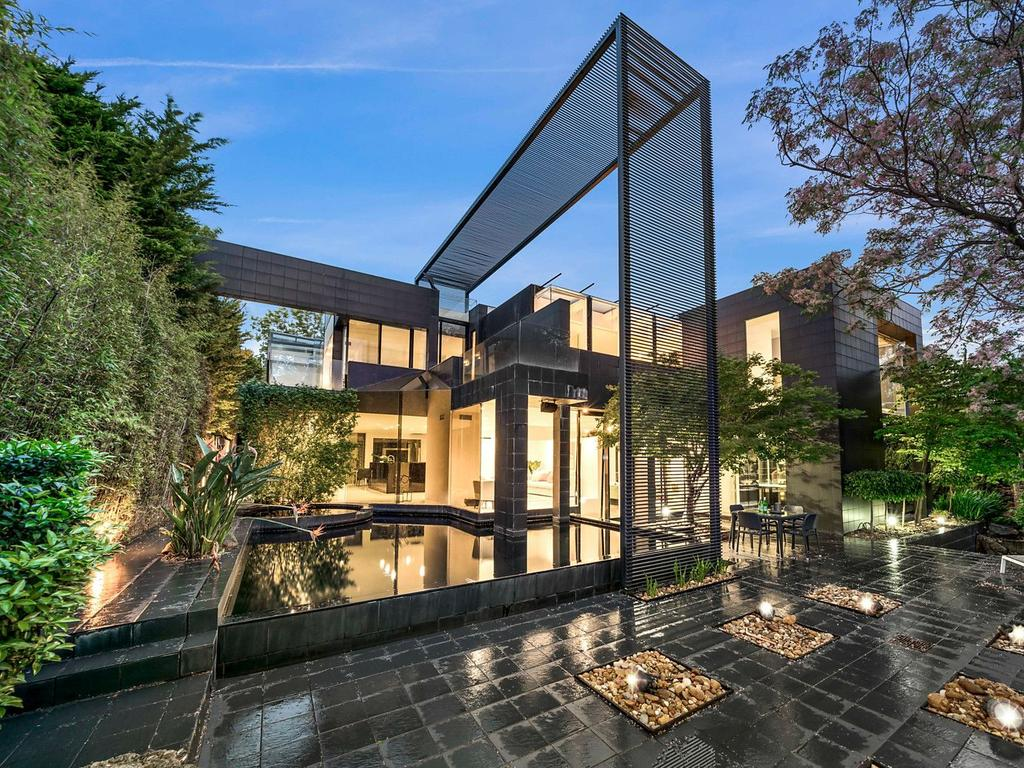The modern mansion on Grange Rd, Toorak, that the Arvanitis family previously owned before selling it for a multimillion-dollar sum in May. Picture: Supplied