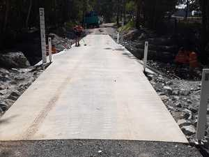 New bridge an important link for timber trucks