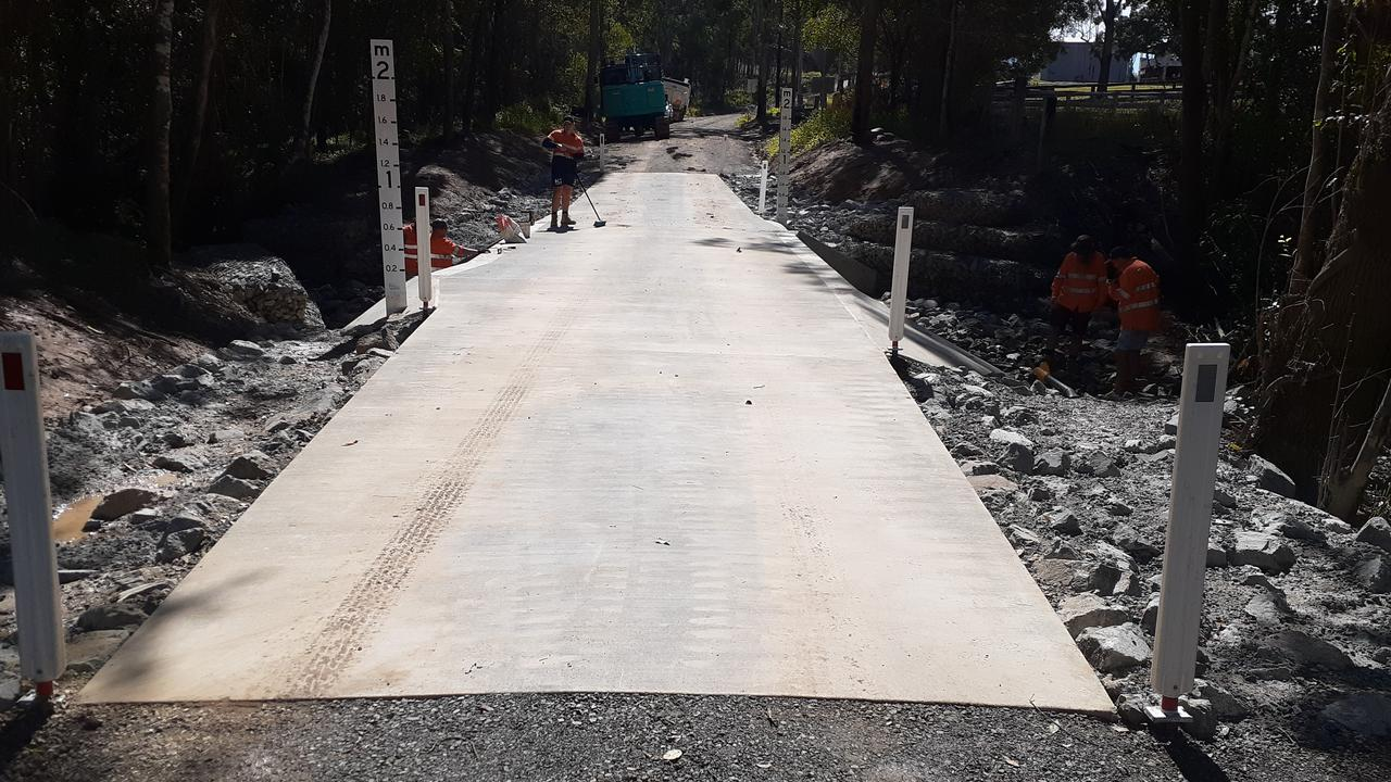 The newly completed bridge on Thinoomba Rd. Photo: Contributed.