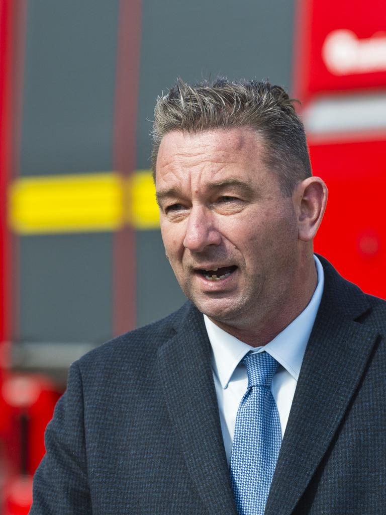Fire and Emergency Services Minister Craig Crawford. Picture: Kevin Farmer