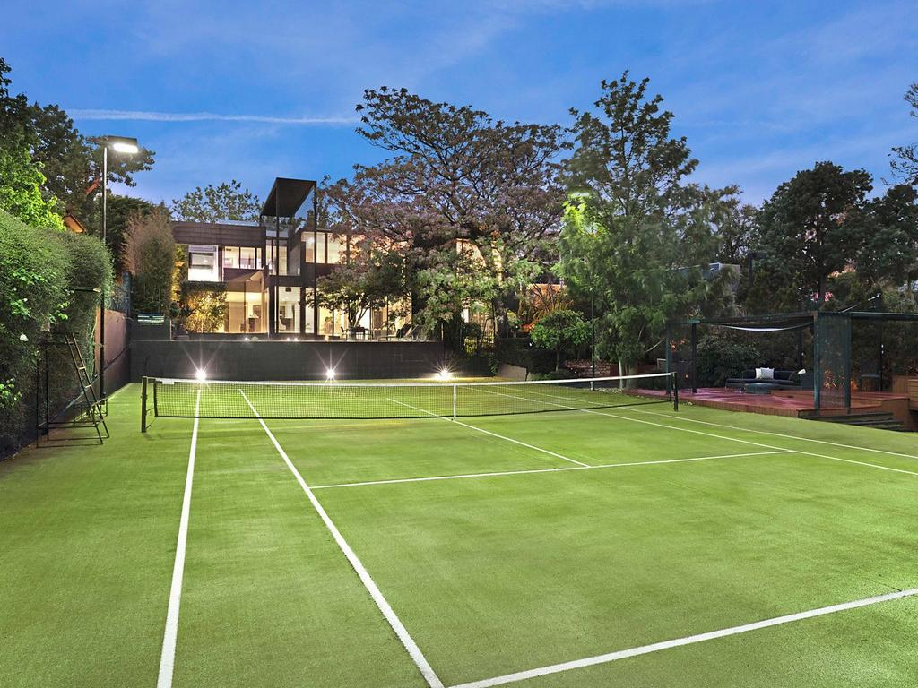 Outdoor features include a tennis court, pool and spa. Picture: Supplied