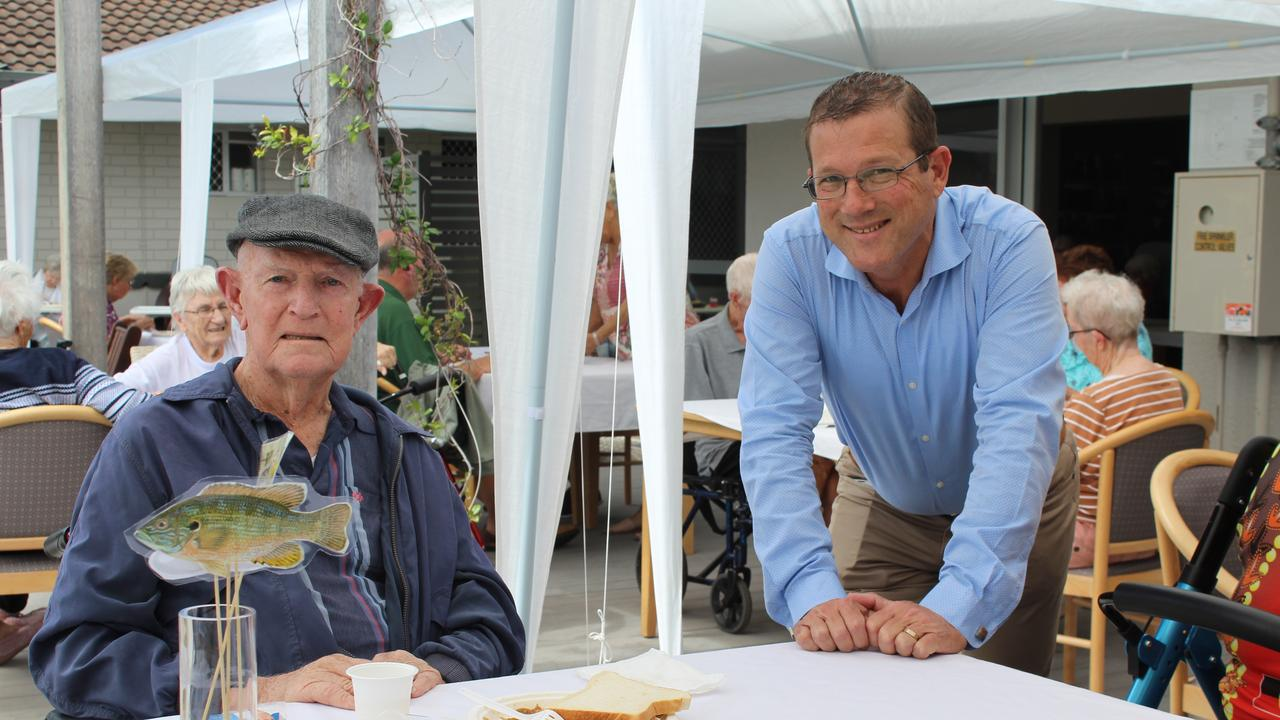 Kevin Stokes and Member for Bundaberg David Batt at the TriCare Father's Day lunch.