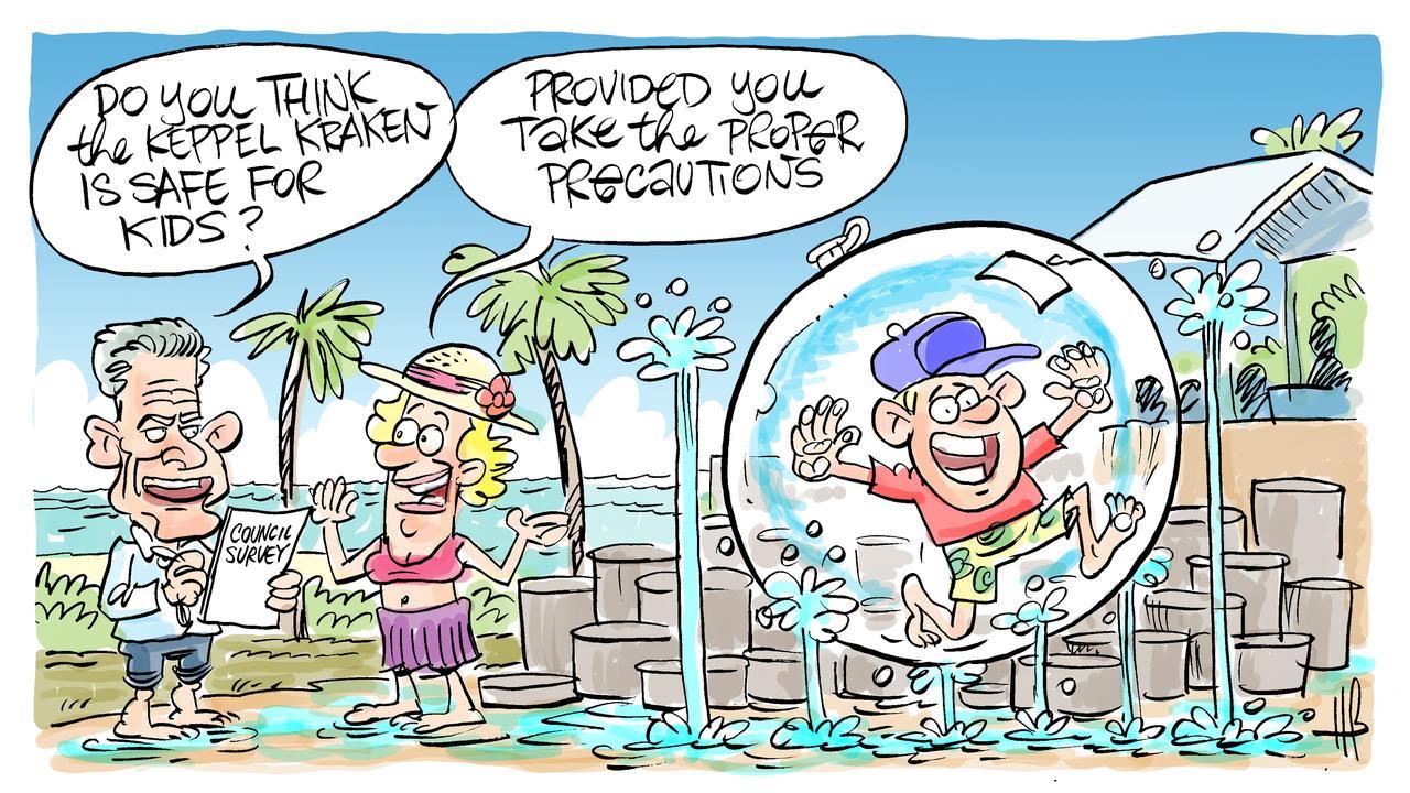 Cartoonist Harry Bruce's view on the Keppel Kraken safety debate.