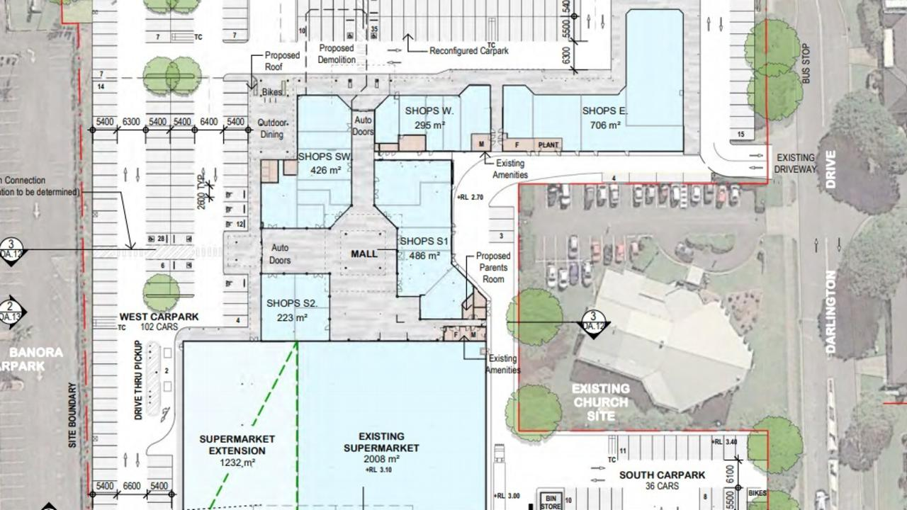 Proposed changes to the building layout.