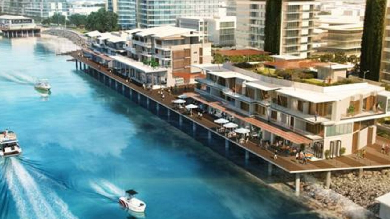 A concept image of part of the Mackay Waterfront Priority Development Area.