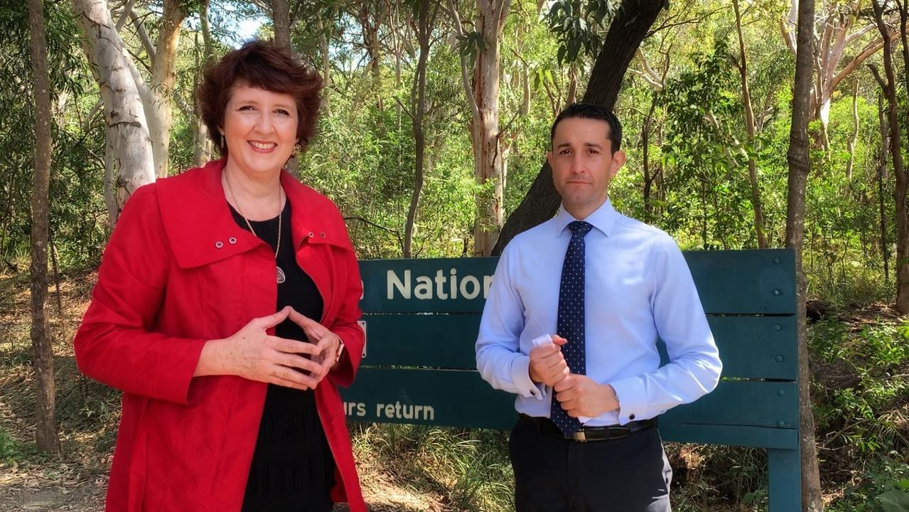 Shadow Environment Minister David Crisafulli and local MP Fiona Simpson said an LNP Government would provide $350,000 amenities to the Mount Coolum National Park. Picture: Supplied