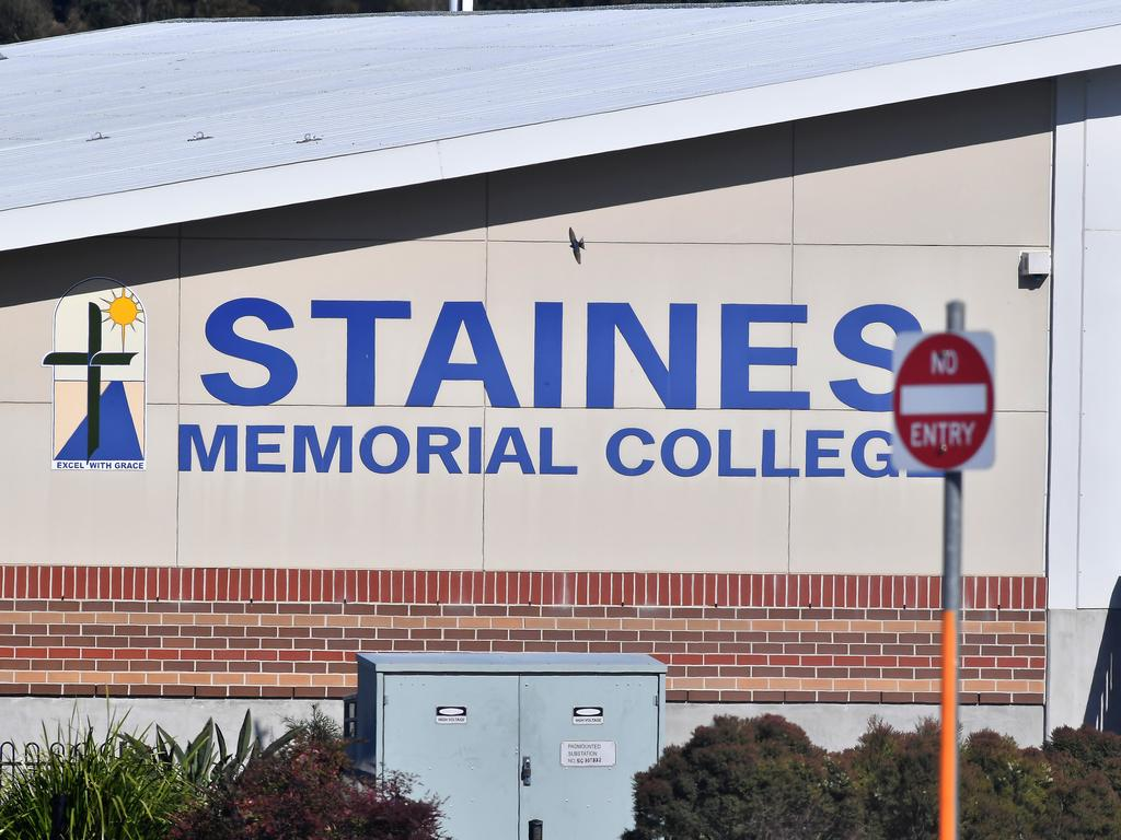 Brisbane, AUSTRALIA - NewsWire Photos August 31, 2020: Staines Memorial College in Redbank closed for COVID-19 deep cleaning. Picture: NewsWire / John Gass