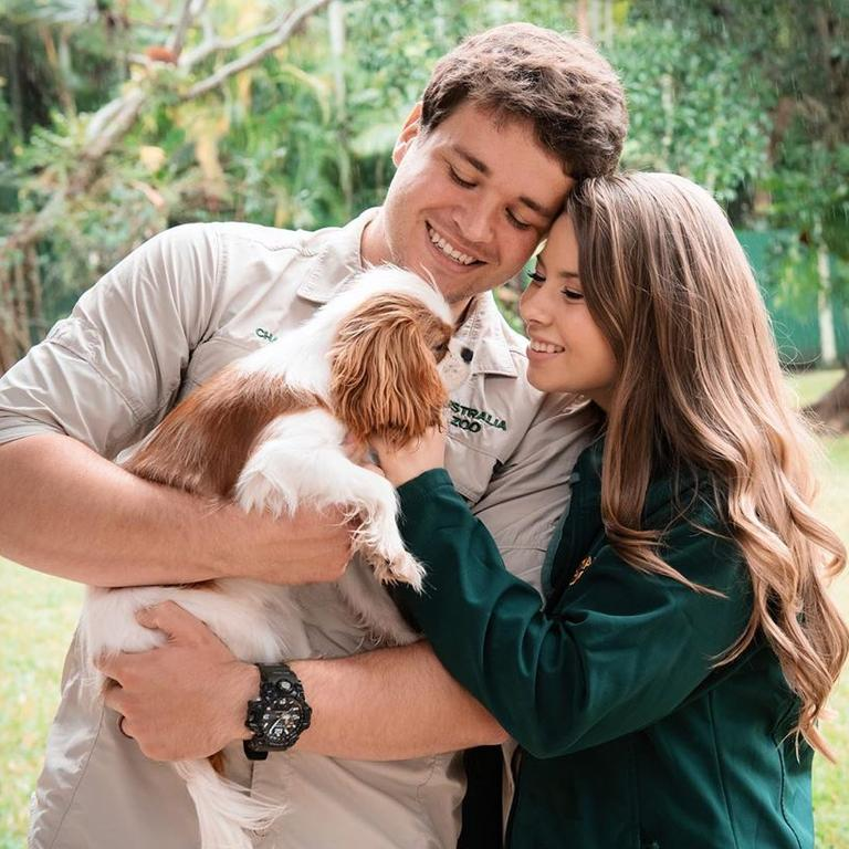 Bindi Irwin and Chandler Powell are expecting their first child. Picture: Instagram/ @bindisueirwin