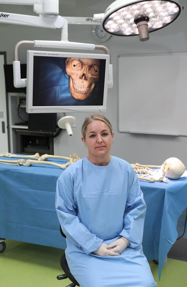 AFP Associate Professor Jodie Ward will spearhead the new database which will centralise the details of hundreds of human remains. Picture: Brett Costello