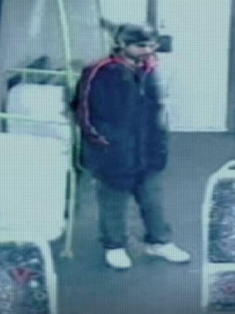 Still from CCTV of the unidentified 'Pakenham Man'.