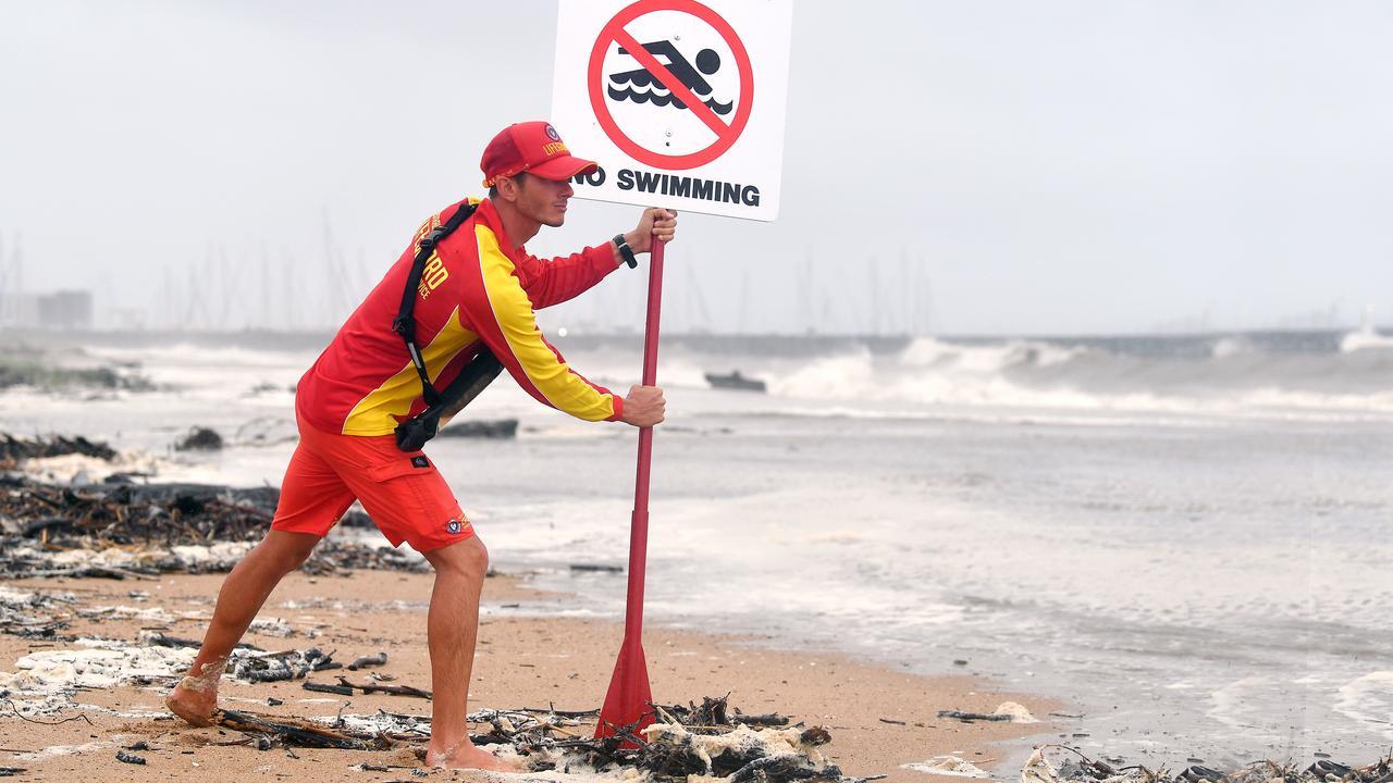 Lifeguard Tarryn Hayden at Harbour Beach in Mackay.