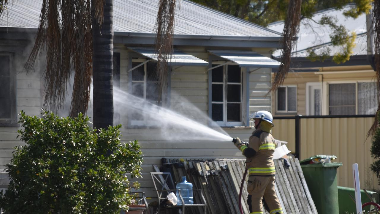 BREAKING: A Dalby home was engulfed in flames this afternoon.