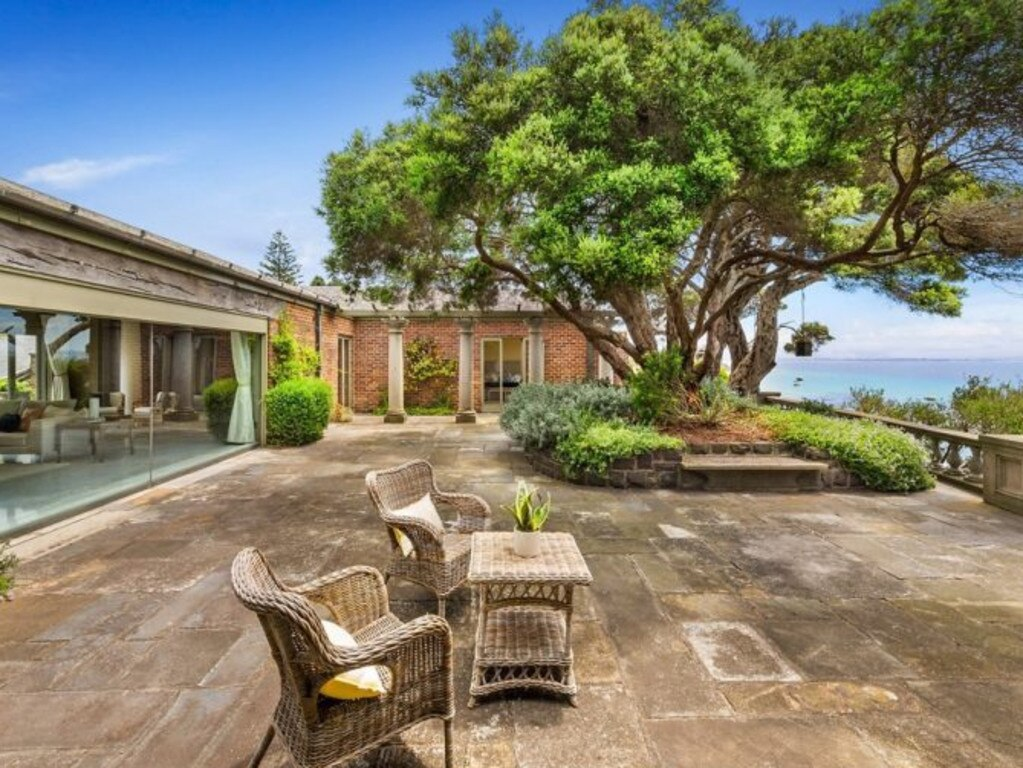 The clifftop Portsea plot overlooks Weeroona Bay. Picture: Supplied
