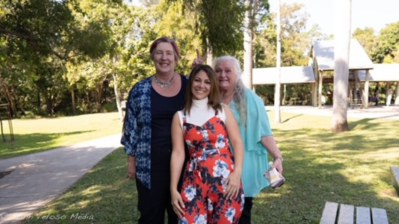 Ruby Sillato, also known as Ruby Noosa (middle), gave founder of Campsite Rescue Wendi Rampton (left) and Nambour woman Sarah $1000 each through her I Choose You challenge. Picture: Supplied.