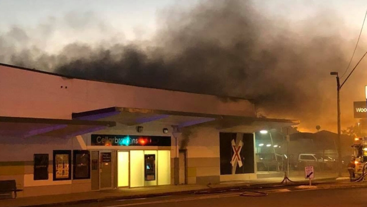 A fire broke out at the Walkerston Woolworths complex in July 2018.